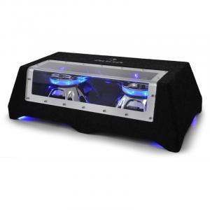 "C8-Sub-2x12-LED 30cm (12"")-Car-Audio-Doppel-Subwoofer 2 x 800W 30 cm (12"")"