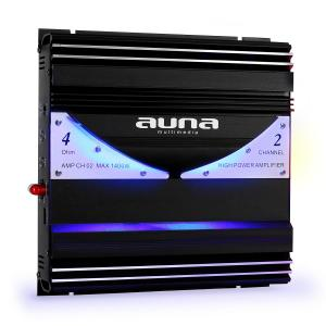 AMP-CH02 2-Kanal-Verstärker Auto-Endstufe 190W RMS 1400W max. 2