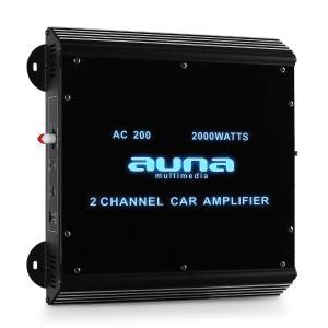 W2-AC200 2-Kanal Auto-Endstufe Car Verstärker 2000W Acryl 2
