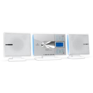 VCP-191 USB-Stereoanlage MP3 CD SD AUX UKW Touch-Armatur FB weiß Weiß