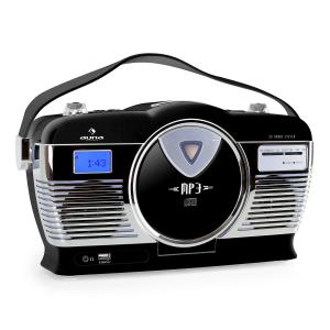 RCD-70 Retroradio UKW USB CD Batterie schwarz Schwarz