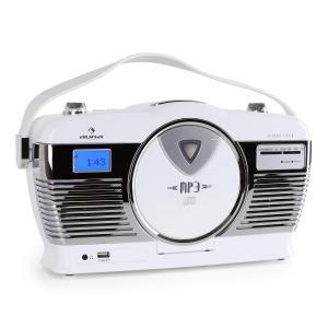 RCD-70 Retroradio UKW USB CD Batterie weiß Weiß