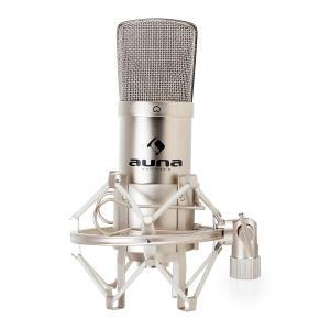 CM001S Profi-Kondensatormikrofon Studio Gesang Instrumente XLR Silber