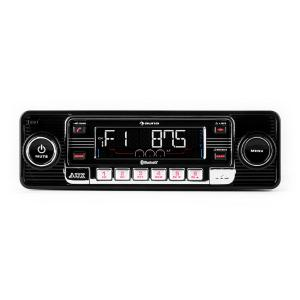 RMD-Sender-One Autoradio Bluetooth USB SD MP3 AUX CD Retro schwarz Schwarz