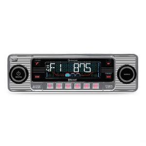 RMD-Sender-Two Autoradio Bluetooth USB SD MP3 CD Retro silber Silber