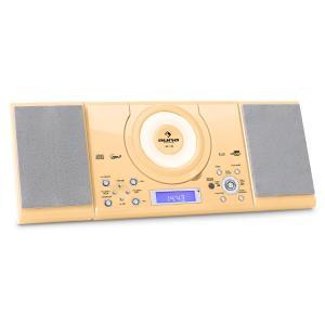 MC-120 Microanlage Vertikalanlage MP3-CD-Player USB AUX Wandmontage creme Creme