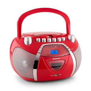 Beegirl Ghettoblaster CD MP3 USB rot