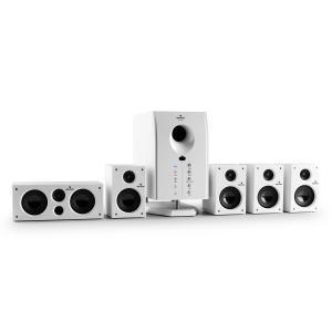 Areal 525 WH aktives 5.1-Kanal-Lautsprechersystem 125W RMS inkl. FB weiß Weiß