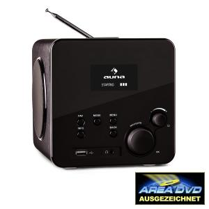 Radio Gaga Internetradio WLAN/LAN DAB/DAB+ UKW USB AUX schwarz