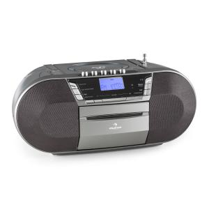 Jetpack portable Boombox USB CD MP3 UKW Batteriebetrieb grau Grau
