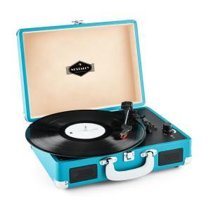 Peggy Sue Retro-Plattenspieler LP USB blau Blau
