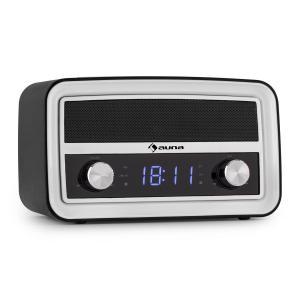 Caprice BK Retro-Radio Wecker Bluetooth UKW USB AUX schwarz