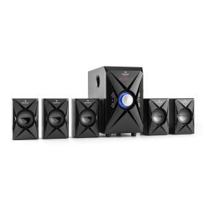 X-Plus 5.1-Kanal-Multimedia-Lautsprechersystem 70W RMS USB SD AUX UKWFB