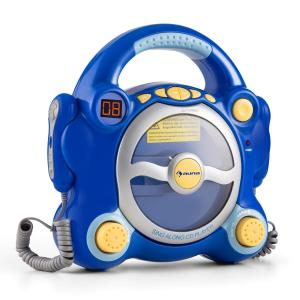 Pocket Rocker Karaoke-CD-Player Sing-A-Long 2 x Mikrofon Batteriebetrieb Blau