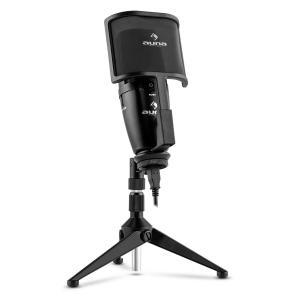 Studio-Pro Großmembran-Kondensator-USB-Mikrofon Tischstativ Pop-/Windschutz