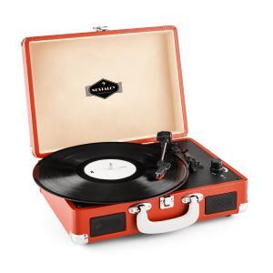 Peggy Sue Retro-Plattenspieler Vinyl LP USB Line Out dark orange