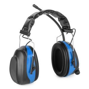 Jackhammer 2.0 Baustellen-Kopfhörer Lärmschutzkopfhörer UKW SNR 28dB AUX-In ABS/Stahl blau Blau