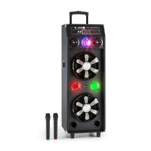 DisGo Box 2100 mobiler Dj-Lautsprecher mit Discolicht 100W RMS Bluetooth
