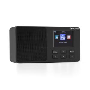 "IR-110 Internetradio 2,4"" TFT-Farbdisplay Akku W-LAN USB schwarz Schwarz"