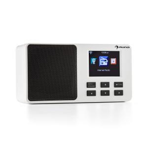"""IR-110 Internetradio 2,4"""" TFT-Farbdisplay Akku W-LAN USB weiß Weiß"""
