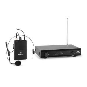 VHF-1-HS 1-Kanal-VHF-Funkmikrofon Set Headset 100m