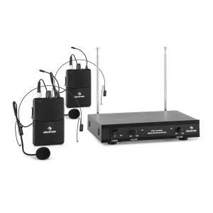 VHF-2-HS 2-Kanal-VHF-Funkmikrofon Set 2xHeadset 100m
