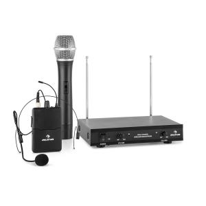 VHF-2-HS 2-Kanal-VHF-Funkmikrofon Set 1xHeadset 1xHandmikrofon 100m