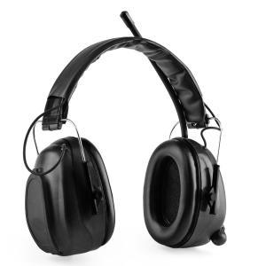 Jackhammer BT Baustellen-Kopfhörer Lärmschutzkopfhörer UKW-Radio 4.0 Bluetooth Aux-In SNR 28dB Schwarz