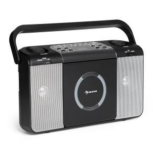 Boomtown USB CD-Player UKW Radio MP3 tragbar Kofferradio Boombox