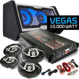 """Car Hifi Set """"Vegas"""" 4.1 10 000Wmax. Lautsprecher Bass Endstufe"""