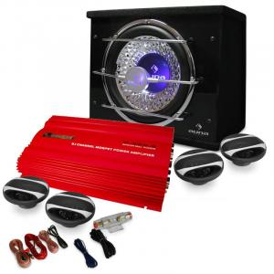 """Car Hifi Set """"Madrid"""" 4.1 3000W Lautsprecher Bass Verstärker"""