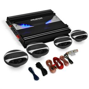 "4.0 Car Hifi Set ""Black Line 420"" Verstärker Boxen"