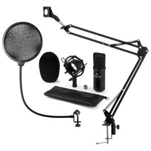 CM001B Mikrofon-Set V4 Kondensatormikrofon Mikrofonarm POP-Schutz schwarz