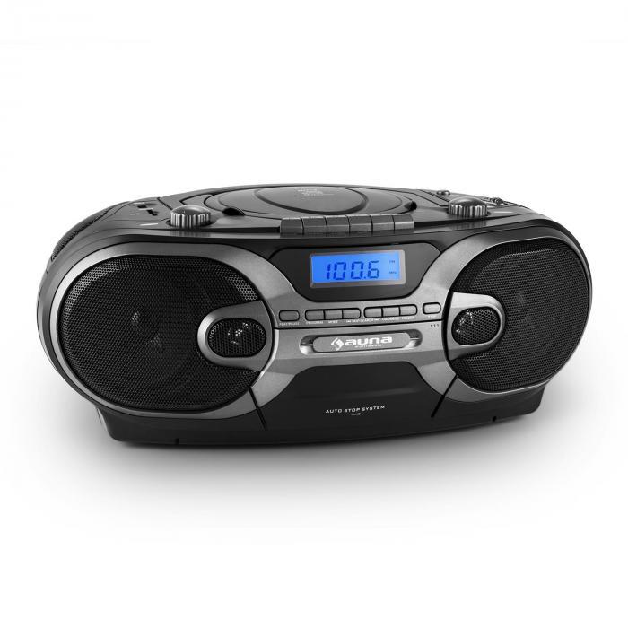 rcd 230 tragbares stereo cd radio usb sd mp3 kassette ukw mw schwarz online kaufen. Black Bedroom Furniture Sets. Home Design Ideas