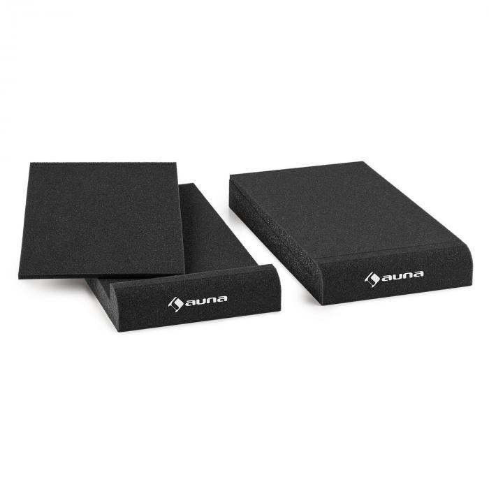 """IsoPad 5"""" Akustik Schaumstoff Paar 4/8° Neigung anthrazit 13 cm (5"""")"""