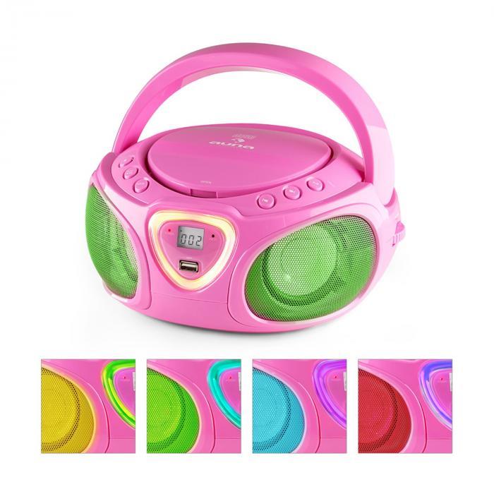 Roadie Boombox CD USB MP3 MW/UKW-Radio Bluetoot...