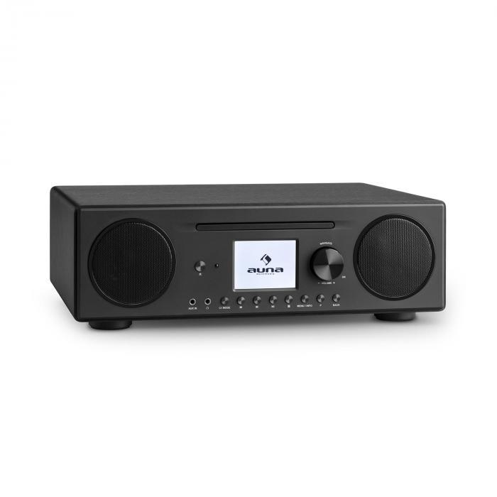 Connect CD Internetradio Mediaplayer Spotify Connect BT App Control schwarz Schwarz